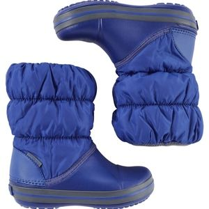 NWT CROCS Kids' Winter Snow Puff Boots in Blue